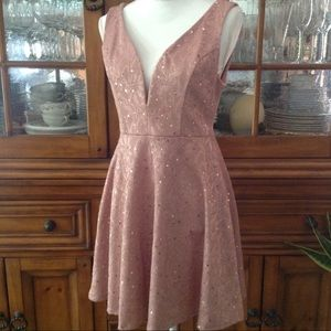 Bailey Blue rose sequined dress